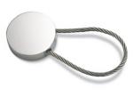 Metalen ronde sleutelhanger.